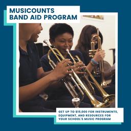 Nous acceptons maintenant les demandes au titre du Programme de subventions Band Aid de MusiCompte!