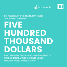 2021 MusiCounts TD Community Music Program Recipients