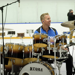 Drummer plays world's longest drum fill with 125 drums to support MusiCounts